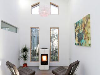 Schoolmasters modular eco house build different Modern living room