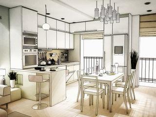 Piccolo appartamento per una giovane coppia Fluido Design Studio