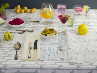 Hand screen printed napkins Georgia Bosson Salle à mangerAccessoires & décorations