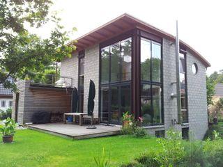 Einfamilienwohnhaus im Landkreis Hamburg/ Harburg Architekt Witte Einfamilienhaus Beton Grau