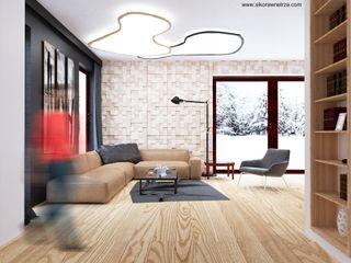 Sikora Wnetrza Salon minimaliste