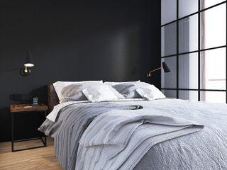 Sikora Wnetrza Dormitorios de estilo industrial