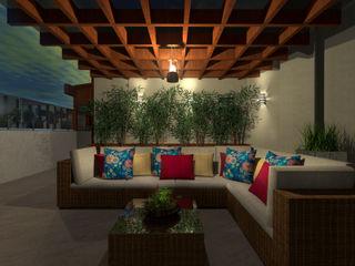 Konverto Interiores + Arquitetura Balcones y terrazas de estilo tropical