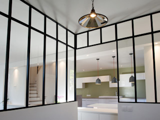 Yeme + Saunier industrial style corridor, hallway & stairs