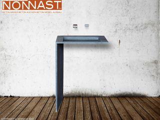 Betonwaschtisch in L-Form Beton Design By NONNAST BadezimmerWaschbecken