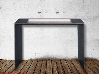 Betonwaschtisch in U-Form Beton Design By NONNAST BadezimmerWaschbecken