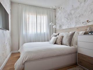 Acentos Paletto's en un dormitorio de DRÖM. Paletto's Furnature DormitoriosCamas y cabeceros