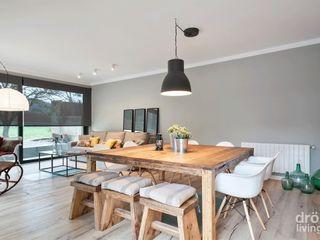 Dröm Living Sala da pranzo in stile scandinavo