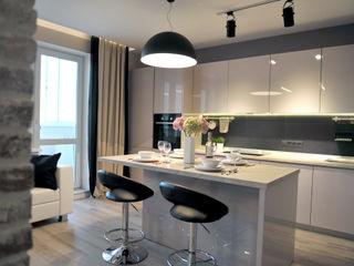 Квартира-студия Elena Arsentyeva Кухня в стиле модерн
