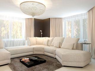 Дом Elena Arsentyeva Гостиная в стиле минимализм