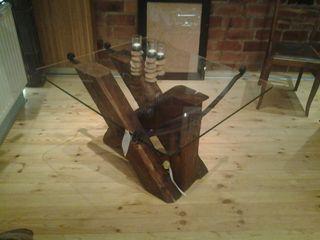 Couchtisch aus Altholz Tischlerei RMD Rustikales Möbeldesign Geschäftsräume & Stores