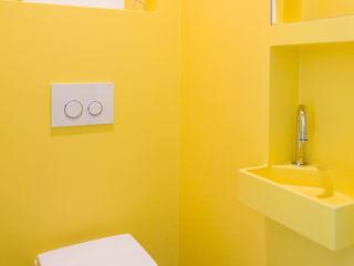 Knal geel naadloos toilet homify Industriële badkamers
