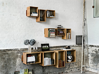 SJ Bookcase Large & Midi We Do Wood اتاق نشیمنقفسه ها