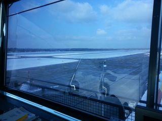 Flughafen Baden-Baden - Tower -- innenliegender Sonnen- und Blendschutz ah-rol Folienrollosysteme UG (hb) Industriale Flughäfen