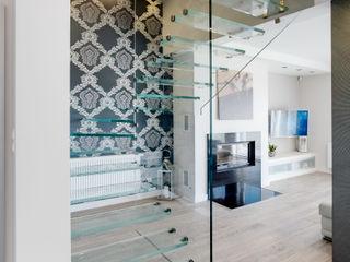 DK architektura wnętrz Koridor & Tangga Minimalis