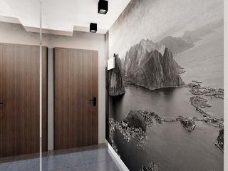 Ale design Grzegorz Grzywacz Modern corridor, hallway & stairs
