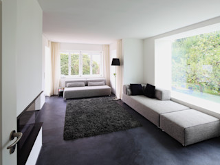 Einfamilienhaus G Architekturbüro Dongus Moderne Wohnzimmer
