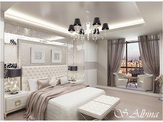 студия авторского дизайна Альбины Сибагатулиной Dormitorios de estilo moderno