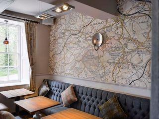 Bespoke map wallcoverings Tektura Wallcoverings Gastronomie rurale