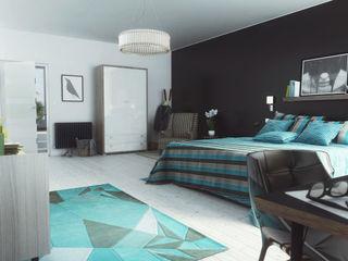 Modern Blue view 2 homify Dormitorios de estilo moderno