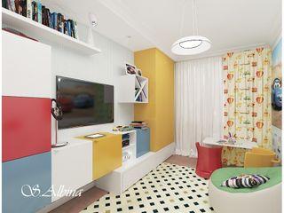 студия авторского дизайна Альбины Сибагатулиной Dormitorios infantiles de estilo moderno
