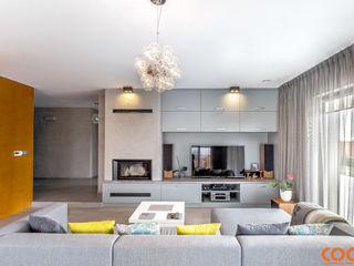 COCO Pracownia projektowania wnętrz Minimalist living room