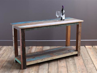 Up-Cycled Wooden Kitchen Island Unit Vintage Archive KitchenCabinets & shelves