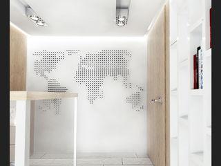 IK-architects Couloir, entrée, escaliers industriels