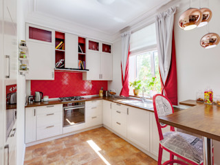 YOUSUPOVA Eclectic style kitchen