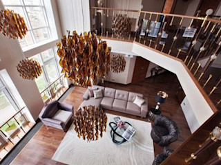 D&A INTERIORS Eclectic style living room