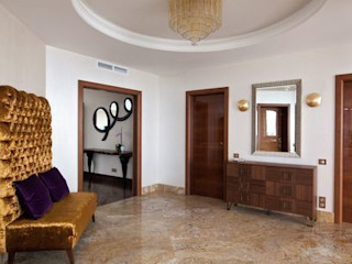 D&A INTERIORS Eclectic style corridor, hallway & stairs
