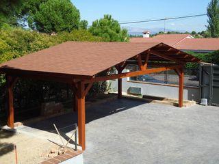 Garajes de Madera Pergomadera Pérgolas y Porches de madera Garajes abiertos