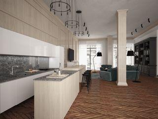 APRIL DESIGN インダストリアルデザインの キッチン