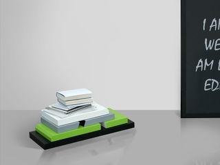 Stojak na książki, system modułowy Sałata-Pracownia Architektury Wnętrz Domowe biuro i gabinetSzafki i regały