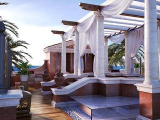 Private Terrace 3D Render&Beyond Balcones y terrazas de estilo clásico