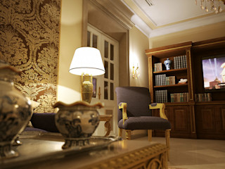 Living room 3D Render&Beyond Salones de estilo clásico