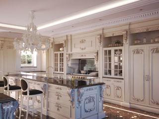 Kitchen 3D Render&Beyond Cocinas de estilo clásico