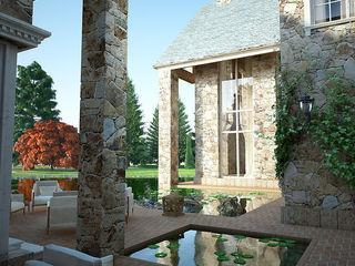 Exteriors Stone house 3D Render&Beyond Casas de estilo rústico