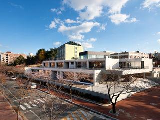 ADF Architects Modern schools Slate White