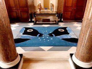 Deirdre Dyson 2013 DESIGNS FROM THE DEEP rug collection Deirdre Dyson Carpets Ltd Couloir, entrée, escaliers modernes