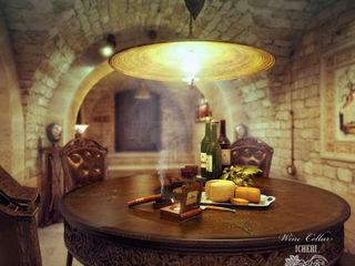 Sweet Home Design Mediterranean style wine cellar