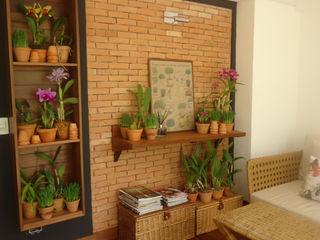 Línea Paisagismo.Claudia Muñoz Modern style balcony, porch & terrace