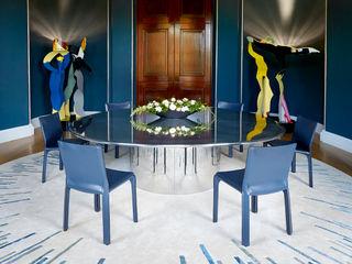 Deirdre Dyson STICK and BAR rug designs Deirdre Dyson Carpets Ltd Salle à manger classique