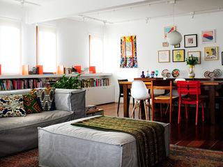 Red Studio Modern living room