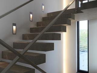 wirges-klein architekten Modern Corridor, Hallway and Staircase