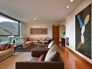 Lage Caporali Arquitetas Associadas Ruang Keluarga Modern