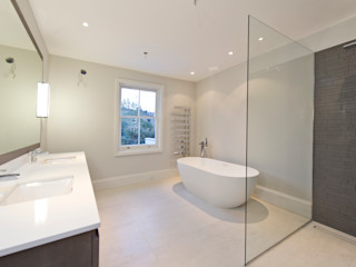 Parsons Green Basement Dig out and Extension Balance Property Ltd Modern bathroom