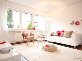 Home Staging Erbimmobilie 60er Jahre raumwerte Home Staging Wohnzimmer im Landhausstil