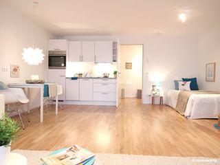 Musterwohnung Neubau Ein-Zimmer-Appartement raumwerte Home Staging Moderne Küchen