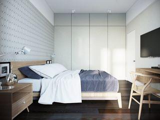 Дизайн квартиры г.Москва NK design studio Спальня в скандинавском стиле